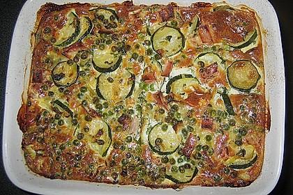 Zucchini - Erbsen - Auflauf (Bild)