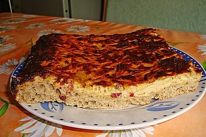 Zwiebelkuchen mit Brotteig