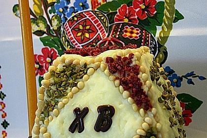 Zaren - Paskha - russische traditionelle Frischkäse - Rosinen - Speise zu Ostern