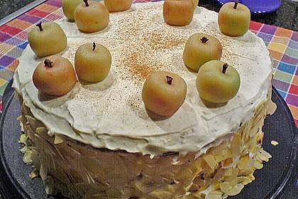Hearts Apfel - Marzipan - Torte