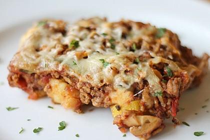 Gnocchi - Hackfleisch - Gemüse - Auflauf 1