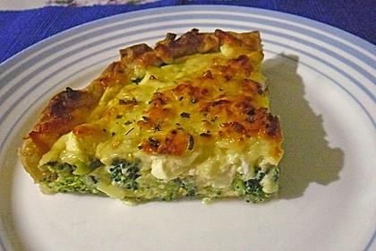 Brokkoli - Feta - Pie 5