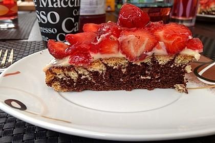 Erdbeer - Zebrakuchen 18