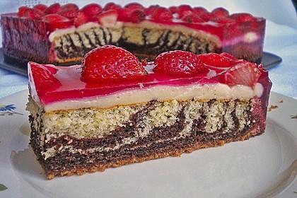 Erdbeer - Zebrakuchen 1