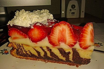 Erdbeer - Zebrakuchen 11