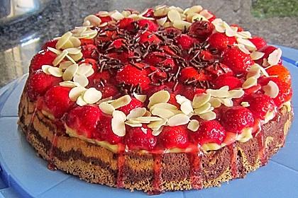 Erdbeer - Zebrakuchen 7