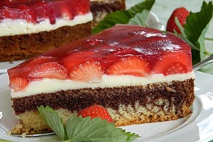 Erdbeer - Zebrakuchen 3