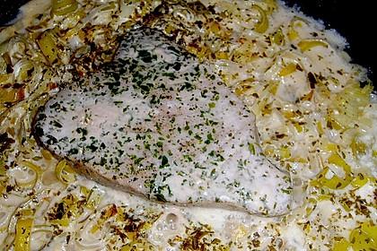 Thunfisch-Steaks auf Lauchgemüse 19