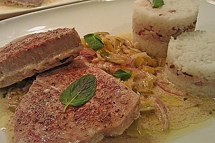 Thunfisch-Steaks auf Lauchgemüse 1