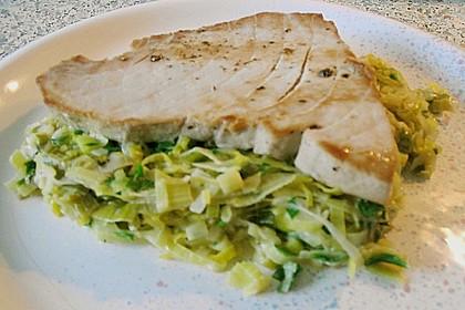 Thunfisch-Steaks auf Lauchgemüse 16