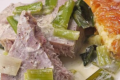 Thunfisch-Steaks auf Lauchgemüse 17