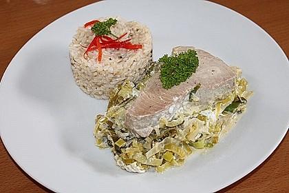 Thunfisch-Steaks auf Lauchgemüse 15