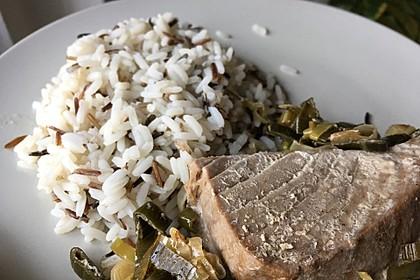 Thunfisch-Steaks auf Lauchgemüse 5
