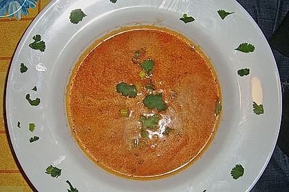 Scharfe Tomaten - Kokos - Suppe 14