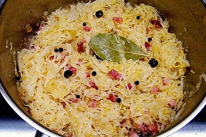 Sauerkraut mit Speck 8