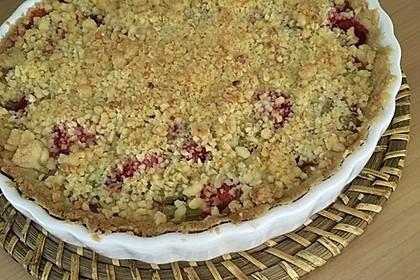 Erdbeer - Rhabarber - Tarte mit Mandelstreuseln 17