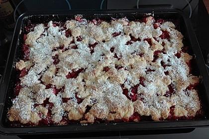 Erdbeer - Rhabarber - Tarte mit Mandelstreuseln 18