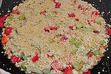 Erdbeer - Rhabarber - Tarte mit Mandelstreuseln 19