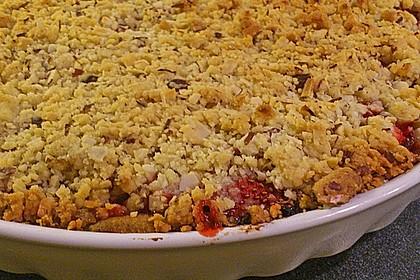 Erdbeer - Rhabarber - Tarte mit Mandelstreuseln 15