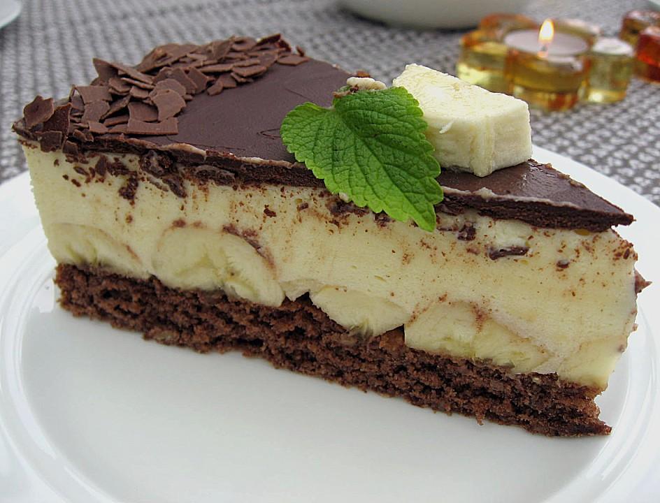 Bananen Schokolade Torte Von Sylv1802 Chefkoch De