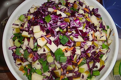 Birnen - Rotkohl Salat 4