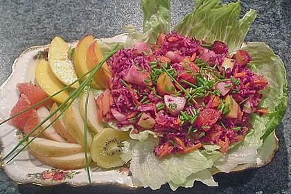 Birnen - Rotkohl Salat
