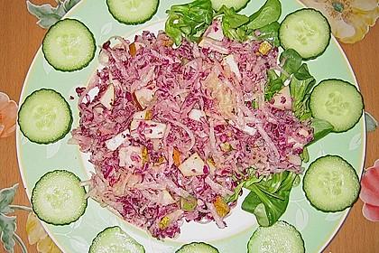 Birnen - Rotkohl Salat 5