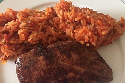 Hähnchensteaks auf Tomatenreis 15