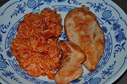 Hähnchensteaks auf Tomatenreis 18