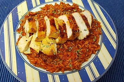 Hähnchensteaks auf Tomatenreis 7