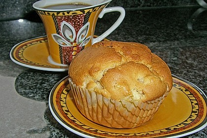 Apfel - Erdnussbutter Muffins