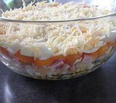 24 - Stunden - Schichtsalat mit Ananas und Mandarinen (Bild)