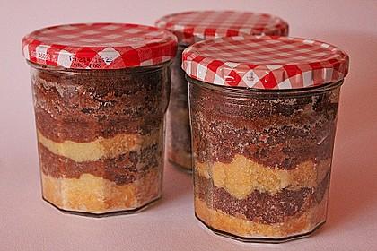Marmorkuchen im Glas 1