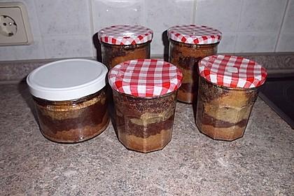 Marmorkuchen im Glas 30
