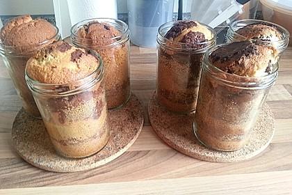Marmorkuchen im Glas 5