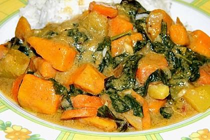Süßkartoffel - Curry 2