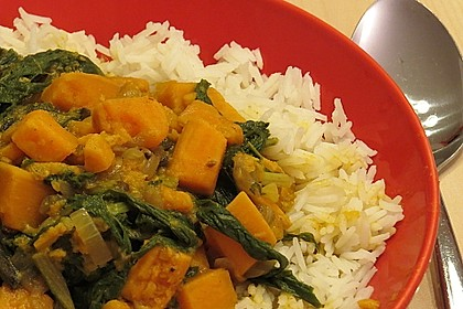 Süßkartoffel - Curry 5