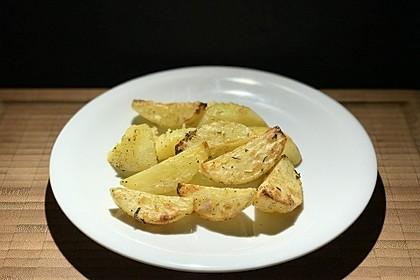 Kartoffelviertel vom Blech