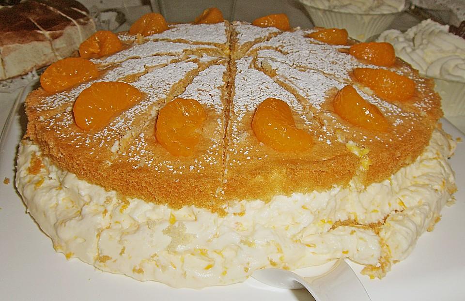 Mandarinen Sahne Torte Ein Schones Rezept Chefkoch De