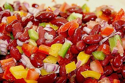 Roter Bohnensalat mit Tomaten und Paprika 1