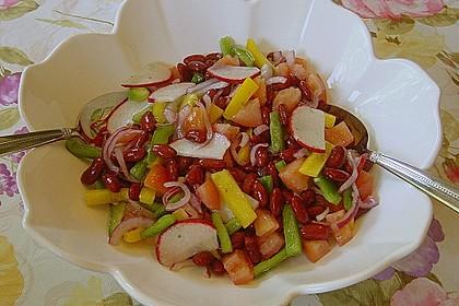 Roter Bohnensalat mit Tomaten und Paprika 5