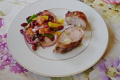 Roter Bohnensalat mit Tomaten und Paprika 4