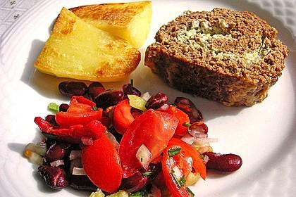 Roter Bohnensalat mit Tomaten und Paprika 3