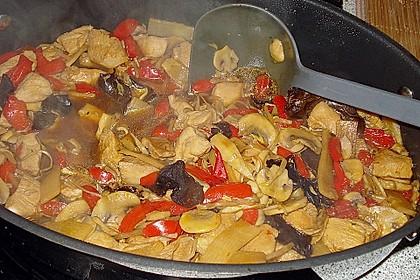Meine China Hähnchen - WOK - Pfanne Chop Suey mit Jasmin- oder Basmatireis 1