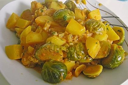 Rosenkohl-Curry 2