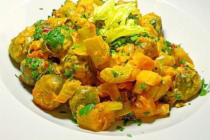 Rosenkohl-Curry 1