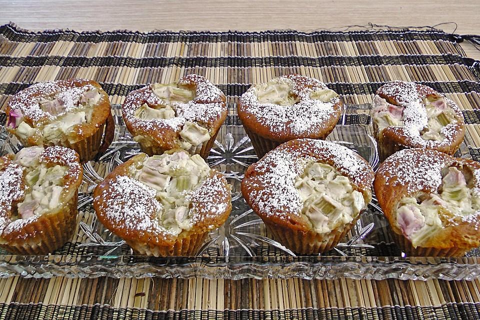 Rhabarber Kasekuchen Muffins Von Labell Chefkoch De