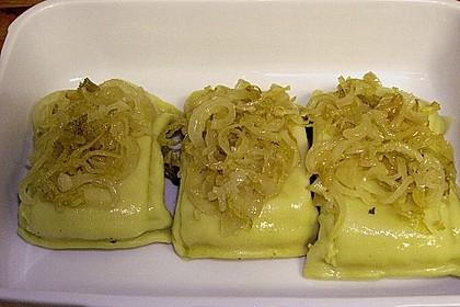 Maultaschen in Sahne mit Käse überbacken 8