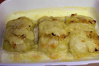 Maultaschen in Sahne mit Käse überbacken 6