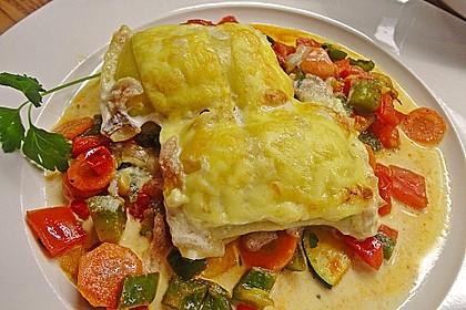 Maultaschen in Sahne mit Käse überbacken 1